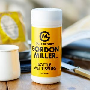GORDON MILLER 除菌ボトルウェットティッシュ ティーツリーアロマ 40枚 イエロー