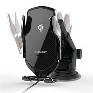 ワイヤレス充電器自動開閉ホルダー 吸盤式 KW-13