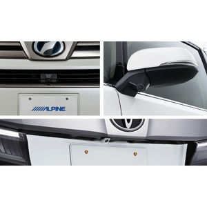 ALPINE 車種専用3カメラセーフティーパッケージ PKG-SF25-VE-W トヨタ ヴェルファイア ホワイト