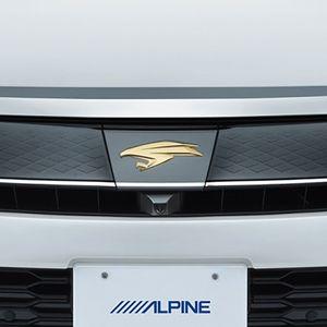 ALPINE 車種専用マルチビュー・フロントカメラ PKG-C25HD-FD2-HA トヨタ ハリアー/ハリアーハイブリッド ブラック