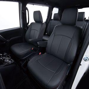Clazzio 車種専用シートカバー ABオリジナルスタイリッシュタイプ EN-5210 ニッサン NV200バネットワゴン ブラック×ワインステッチ