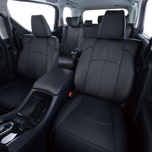 Clazzio 車種専用シートカバー ABオリジナル本革パンチングタイプ EN-5210 ニッサン NV200バネットワゴン ブラック×ブラックステッチ