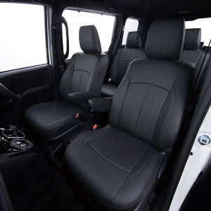 Clazzio 車種専用シートカバー ABオリジナルスタイリッシュタイプ ED-6542 ダイハツ タフト ブラック×ワインステッチ
