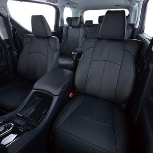 Clazzio 車種専用シートカバー ABオリジナル本革パンチングタイプ ED-6542 ダイハツ タフト ブラック×ブラックステッチ